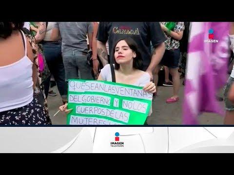 Feministas se manifestaron en Argentina en pro del aborto | Noticias con Francisco Zea