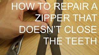 Fix a Zipper that Doesn't Close