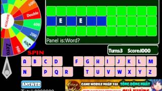 Wheel of words exciting game with words