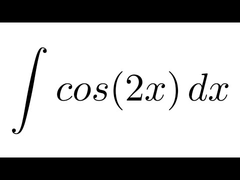 Integral Of Cos 2x Substitution Youtube