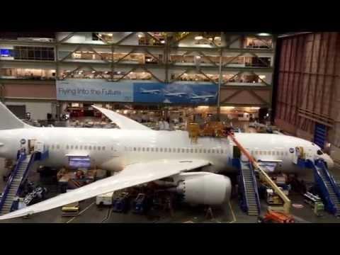 Inside the Boeing factory/Everett, Seattle
