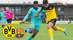 Reyna & Raschl for the win! | BVB U19 - FC Barcelona U19 2:1 | Highlights - UEFA Youth League