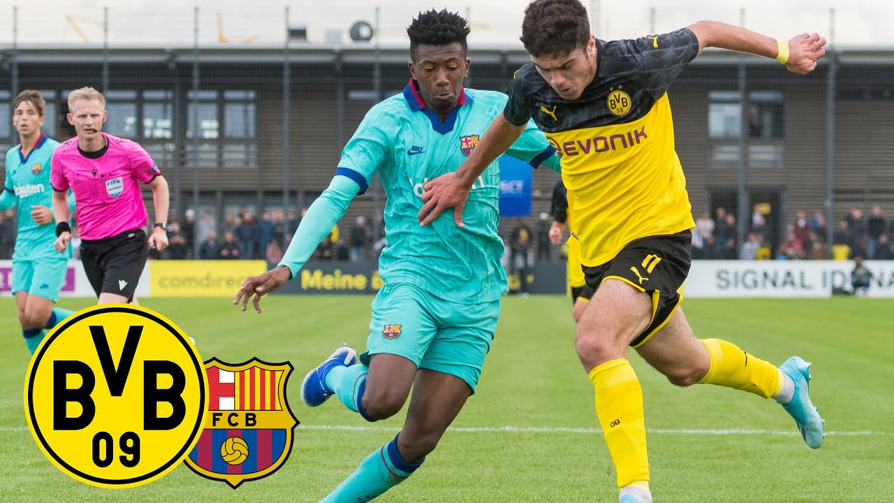 Reyna & Raschl treffen zum Sieg! | BVB-U19 - FC Barcelona-U19 2:1 | Highlights - UEFA Youth League