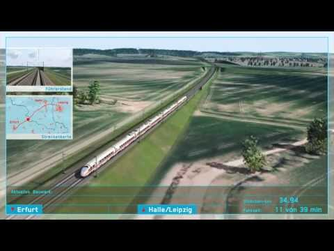 VDE 8.2 NEUBAUSTRECKE: 3D-Simulation Streckenüberflug von Erfurt nach Leipzig