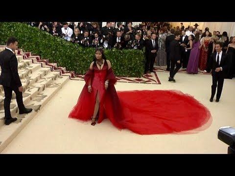 Nicki Minaj on the red carpet for the MET Costume Institute Gala