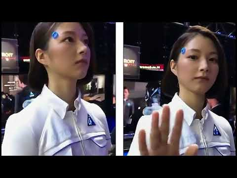 Crazy ! Life-Like Android at Tokyo Gaming Conference Stuns People