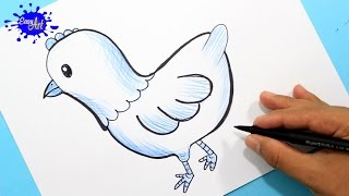 how to draw a chicken l Como dibujar una gallina paso a paso l animales de  La granja