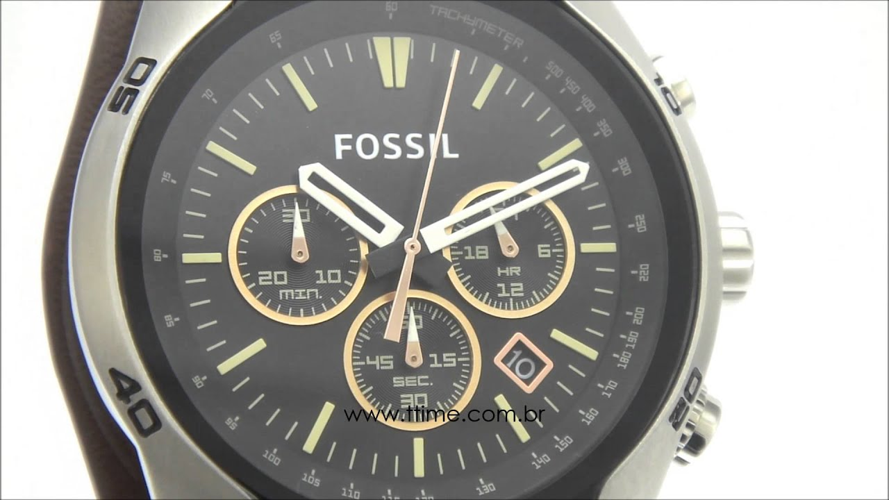 Relgio Fossil Ch2891 2pn Youtube Jam Tangan Original Watch Coachman Chronograph Brown