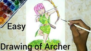 Making drawing of Archer from clash of clans