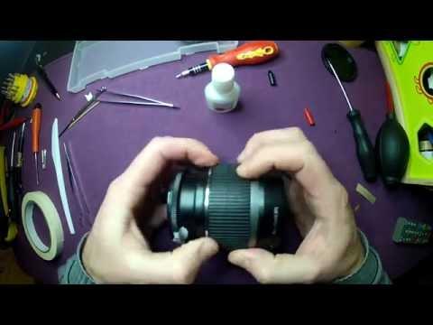 Désassemblage et réparation Canon EF-S 18-55 IS