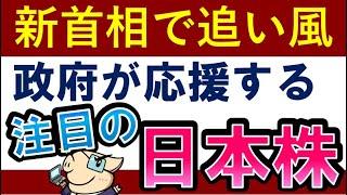 【新首相誕生で注目】今後が楽しみな日本株!岸田関連銘柄!