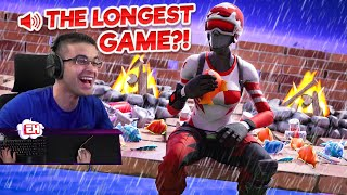Attempting LazarBeam's World Record for LONGEST Fortnite Game EVER!