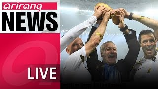 [LIVE/ARIRANG NEWS] France beat Croatia 4-2 in final to win 2018 Russia World Cup - 2018.07.16