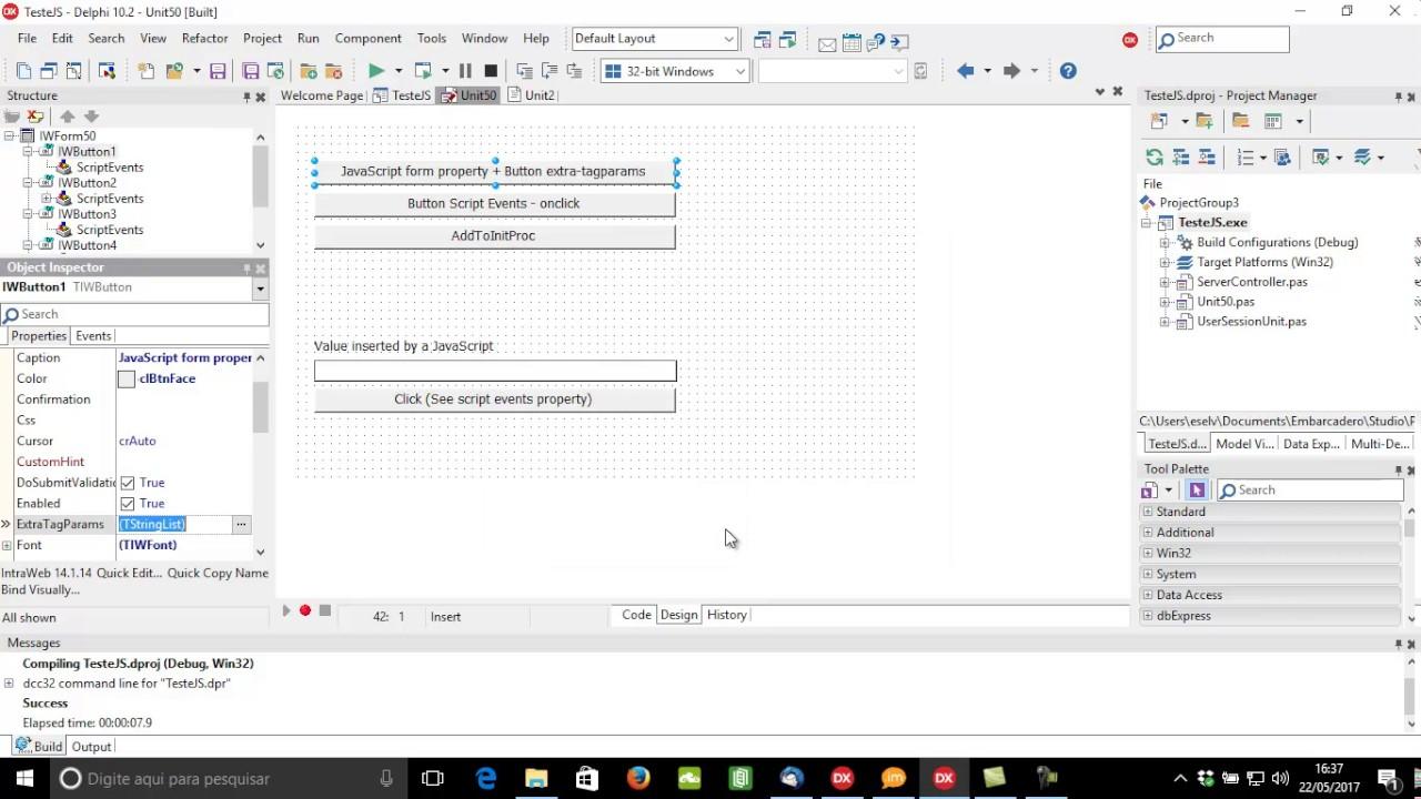 Usando JavaScript com Intraweb
