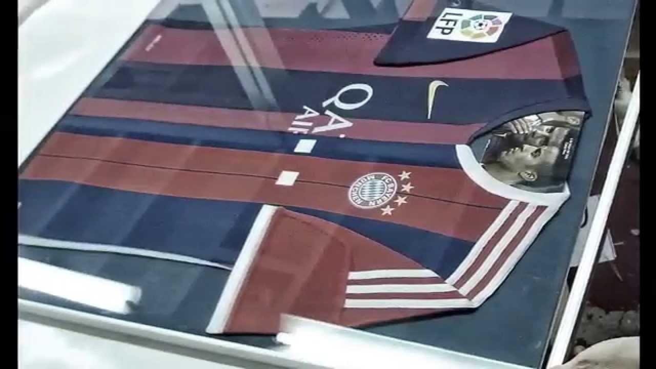 Com emmarquem una samarreta de futbol . Barcelona TOTART - YouTube