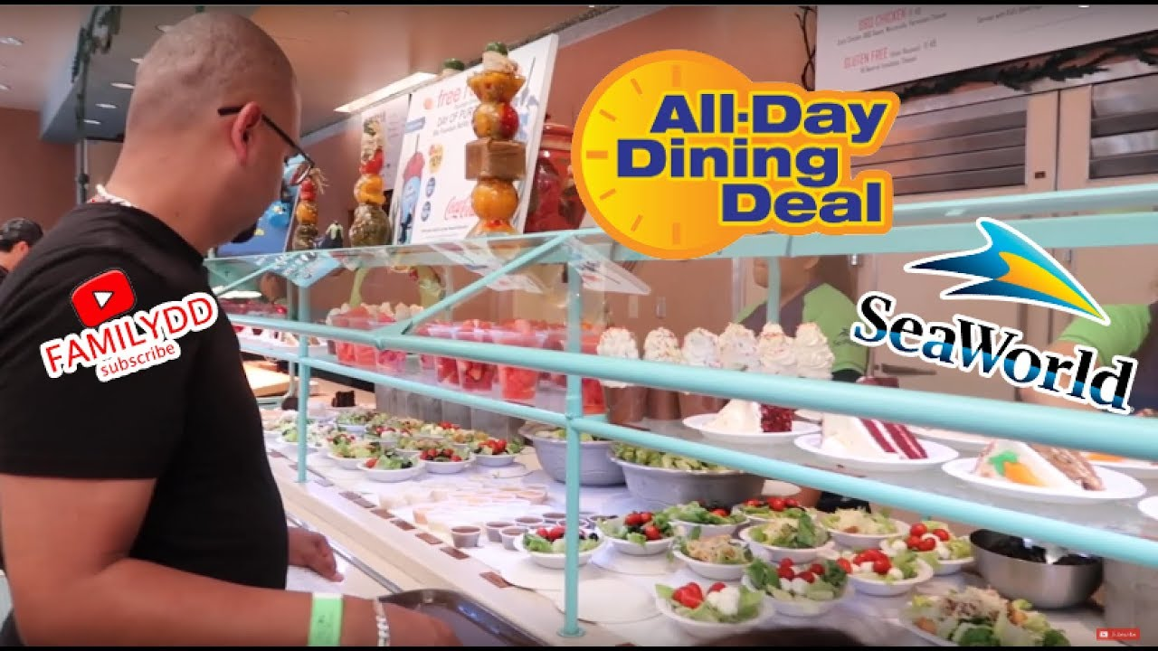 Seaworld All Day Dining Is It Worth It Eating Challenge Youtube