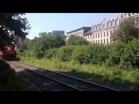 CN GP9RM's at Old Town Montreal/Port of Montreal