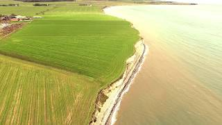 Grenaa Strand Fornaes Beach Denmark with the DJI Inspire 1 - 4K