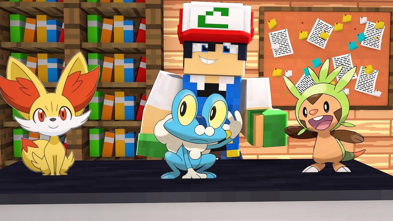 Minecraft Pokemon X Y Froakie Fennekin Ou Chespin 1 Youtube