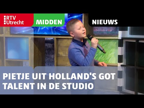 Pietje (9) uit Holland's Got Talent in de studio van RTV Utrecht [RTV Utrecht]