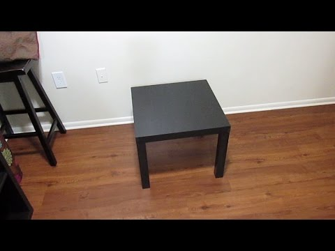 Ikea Lack Side Table Assembly Detailed Youtube