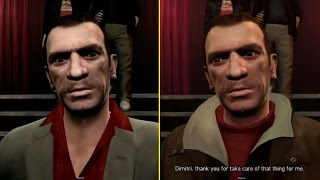 GTA IV Gameplay Trailer vs Retail PS3 Graphics Comparison