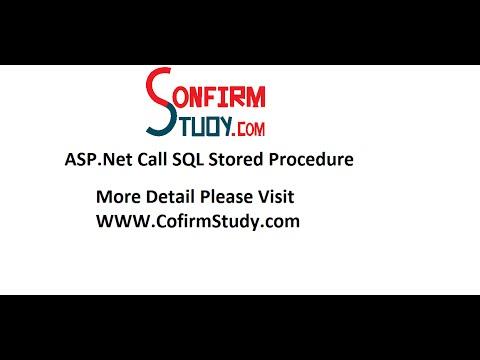 ASP Net Call Stored Procedure