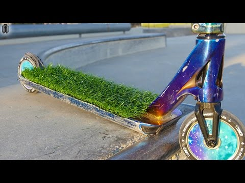 GRASS GRIP TAPE on PRO SCOOTER! - YouTube