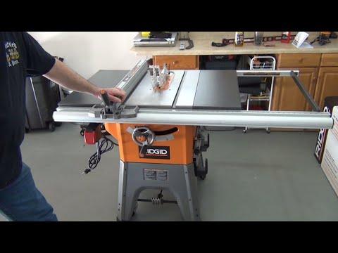 "Ridgid R4512 10"" Table Saw Assembly"