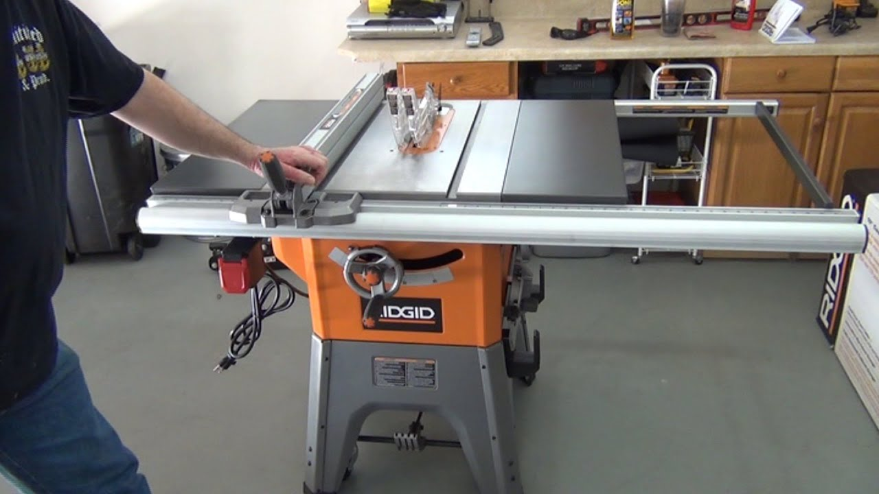 Ridgid r4512 10 table saw assembly youtube greentooth Image collections