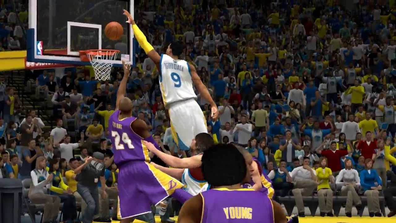 NBA 2K14 Andre Iguodala block on Kobe Bryant - YouTube 91b58b1db