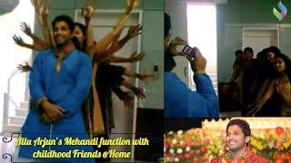 Allu Arjun / Bunny Mehandi festival with childhood Friends - Personal Video