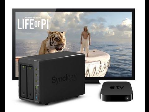 Synology DS713+ to Apple TV 3 AirPlay direct video streaming XVID & MKV Test