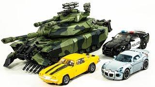 Transformers Movie Deluxe Jazz Bumblebee Barricade Leader Brawl Vehicle Tank Car Robot Toys