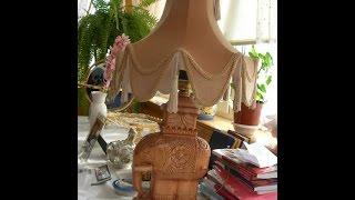 Урок по резьбе декоративного светильника Слоник