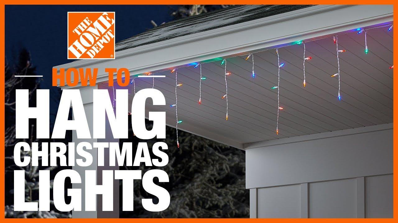 how to hang christmas lights the home