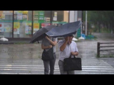 Decenas de feridos e moitos fogares sen luz en Xapón polo paso dun tifón