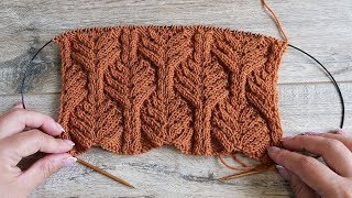 Красивый узор спицами | Beautiful knitting pattern