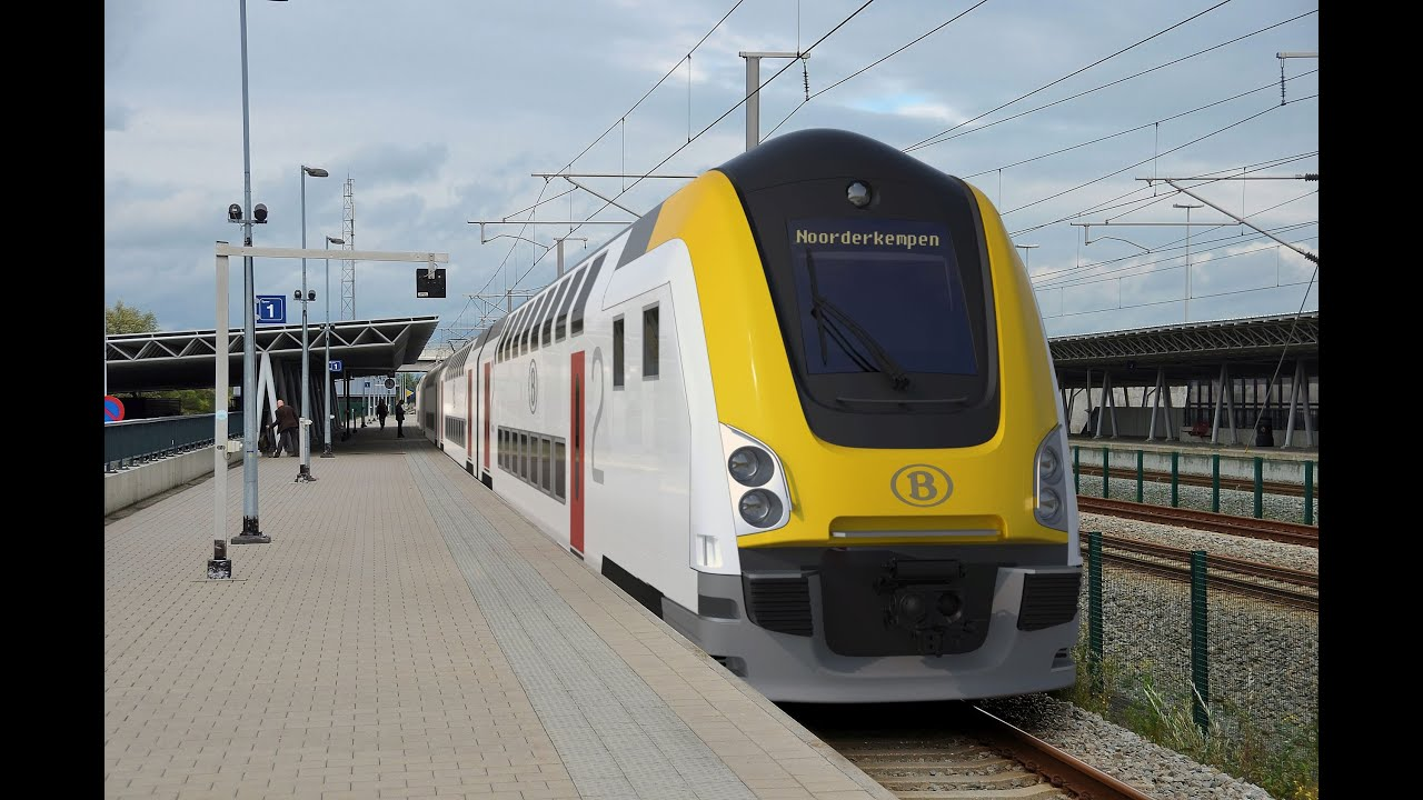 nouvelles voitures m7 sncb nieuwste dubbeldeksrijtuigen m7 nmbs youtube. Black Bedroom Furniture Sets. Home Design Ideas