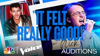 "Bradley Sinclair's Crazy Range on James Arthur's ""Say You Won't Let Go"" - Voice Blind Auditions 2021"