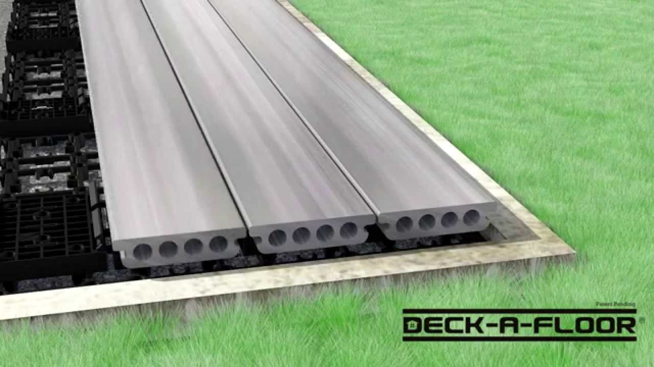 Deck a floor step by step installation youtube dailygadgetfo Choice Image