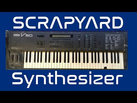 Yamaha V50 FM Synthesizer destined for the scrapyard