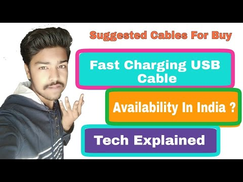( Hindi ) Fast Charging USB Cable Explain , Availablity In India