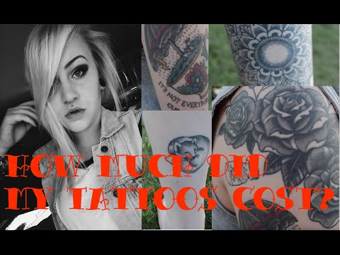 How Much Did My Tattoos Cost Missalannanielsen