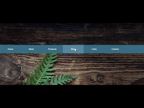 Navigation bar and menus with background image