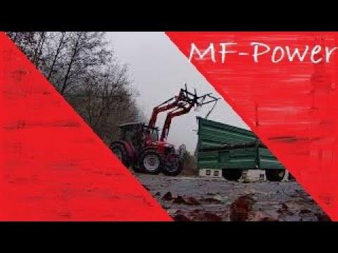 🚜 Traktorvlog Kipper abrüsten Massey Ferguson MF 4707 Frontlader