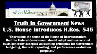 U.S. House Introduces H.Res. 545 to adopt accrual accounting for the federal government 05-12-2014