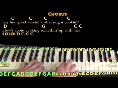 Hey Good Lookin' (Hank Williams) Piano Cover Lesson with Chords/Lyrics