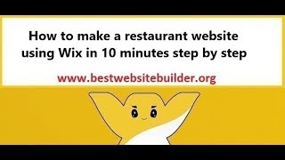How to make a restaurant website using Wix in 10 minutes step by step