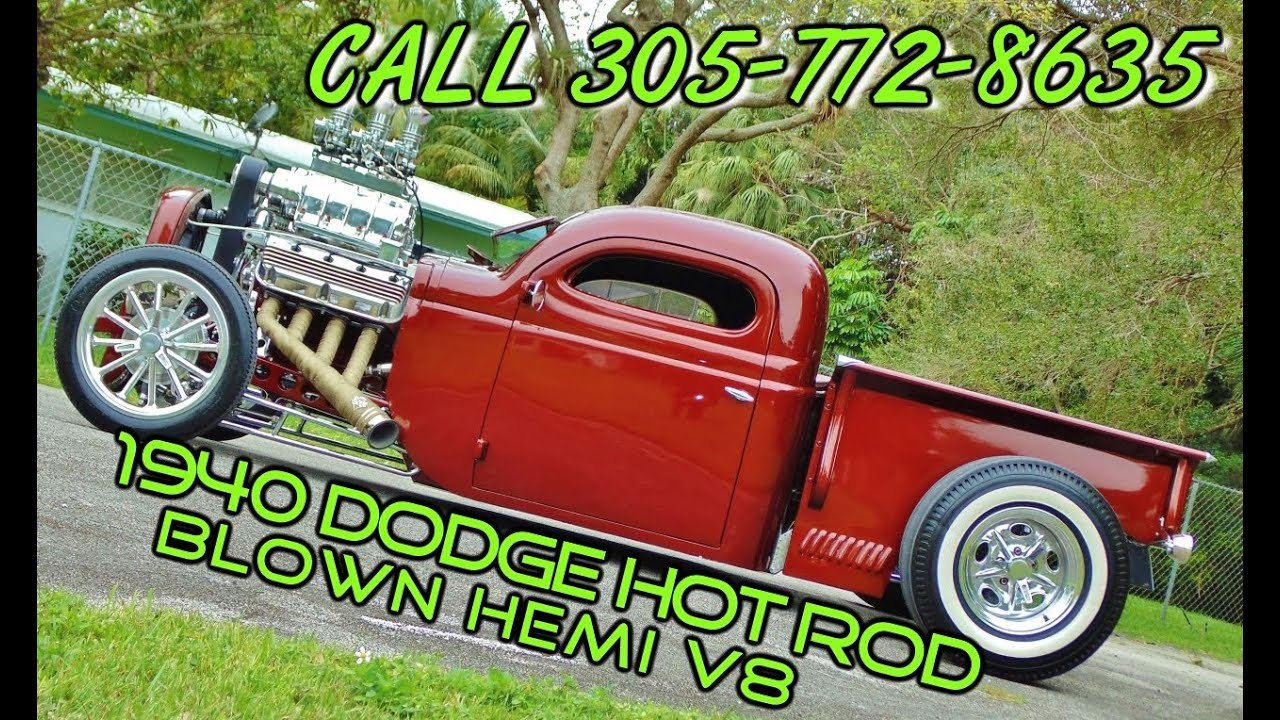 1940 Custom Rat Rod Dodge Blown Hemi V8 Hot Rod 4 Sale: Call 305-772 ...